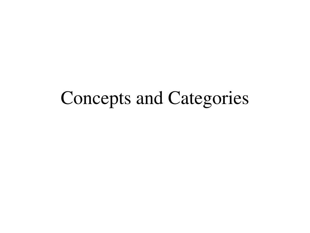 concepts and categories l.