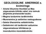 geoloogiline aineringe e kivimiringe