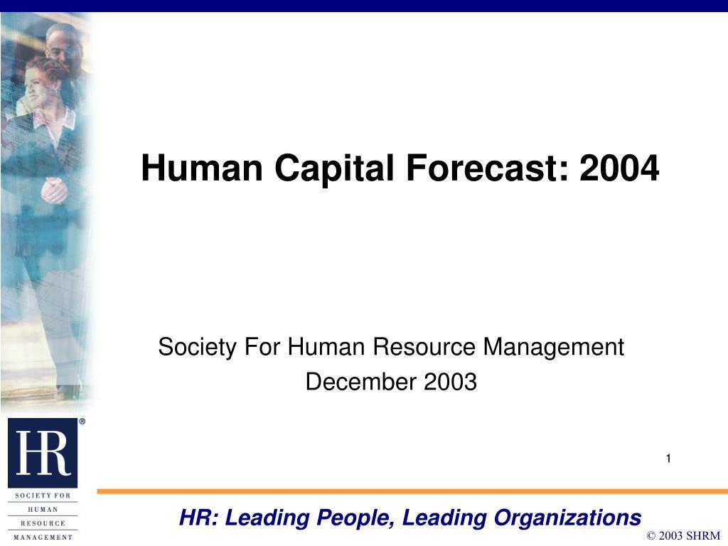 human capital forecast 2004 l.