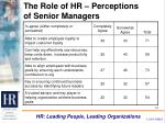 the role of hr perceptions of senior managers