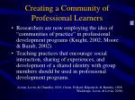 creating a community of professional learners