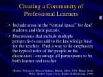 creating a community of professional learners10