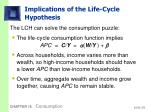 implications of the life cycle hypothesis