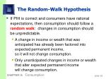 the random walk hypothesis1