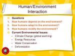 human environment interaction11