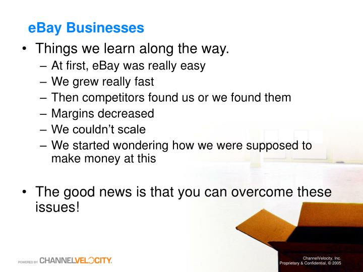 Ebay businesses