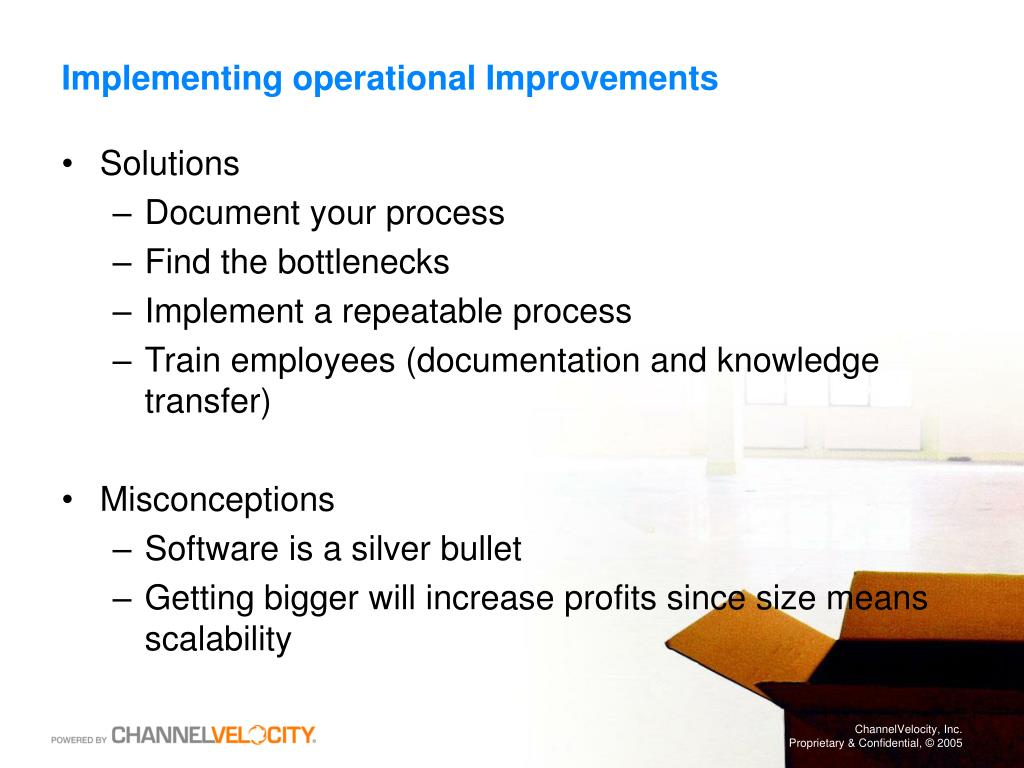 Implementing operational Improvements