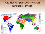 another perspective on human language families