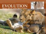 chapter 20 cultural and social evolution