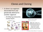 clones and cloning