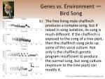 genes vs environment bird song23