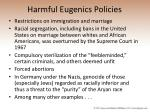 harmful eugenics policies