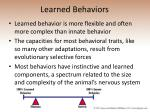 learned behaviors25
