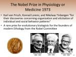 the nobel prize in physiology or medicine 1973