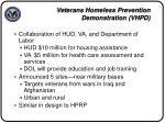 veterans homelessness prevention demonstration vhpd