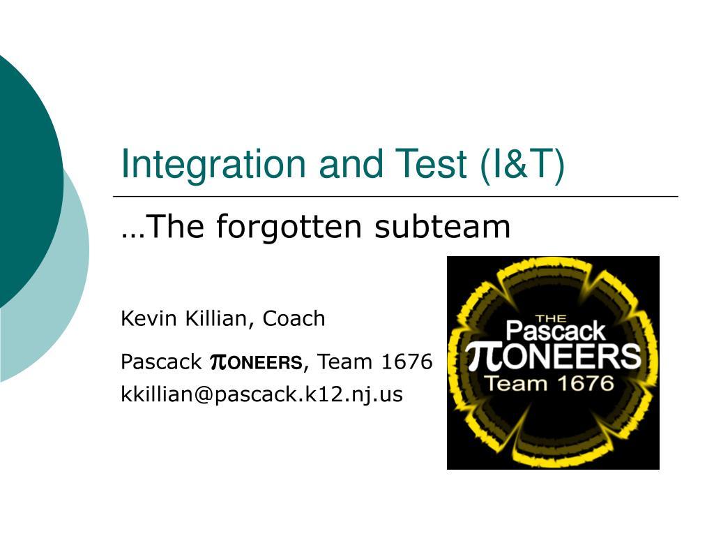 integration and test i t l.