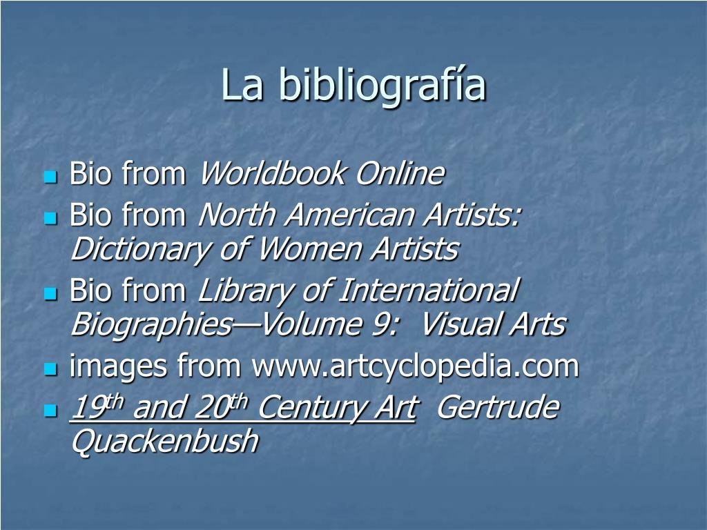 La bibliografía