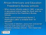 african americans and education freedmen s bureau schools