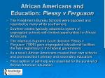 african americans and education plessy v ferguson