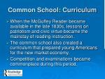 common school curriculum