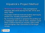 kilpatrick s project method