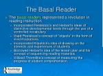 the basal reader