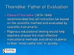 thorndike father of evaluation