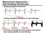 measurement approaches sub sampling oscilloscope