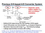 previous s h based a d converter system