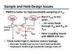 sample and hold design issues