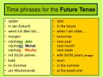 time phrases for the future tense