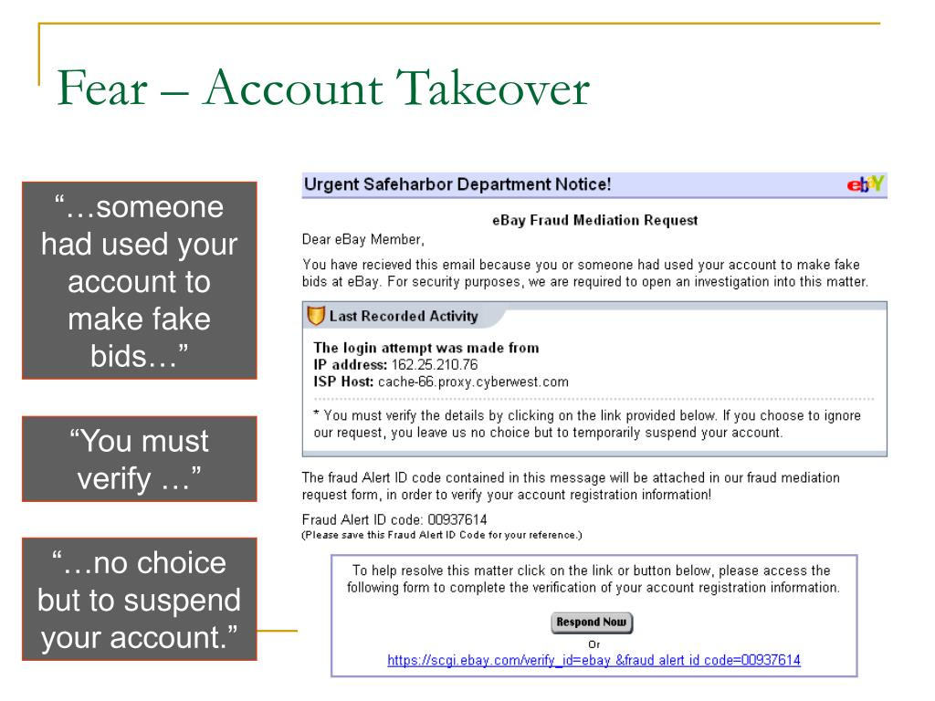 Fear – Account Takeover