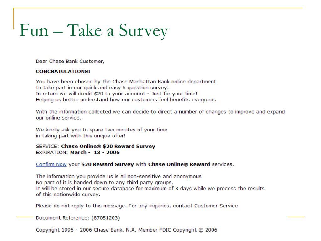 Fun – Take a Survey