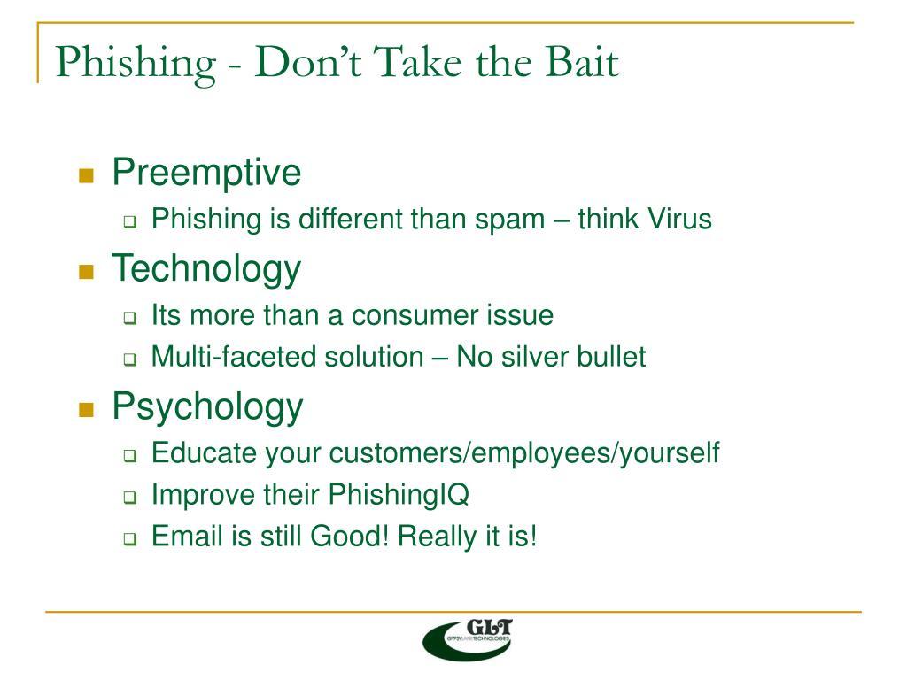 Phishing - Don't Take the Bait