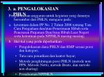 a pengalokasian phln