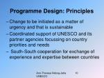 programme design principles