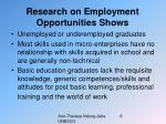 research on employment opportunities shows