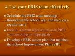 4 use your pbis team effectively