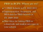 pbis in bcps where are we