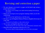 revising and correction a paper