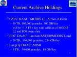 current archive holdings