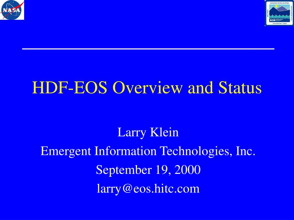 hdf eos overview and status l.