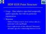hdf eos point structure