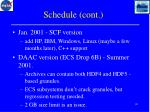 schedule cont