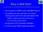 what is hdf eos