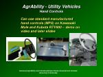 agrability utility vehicles hand controls