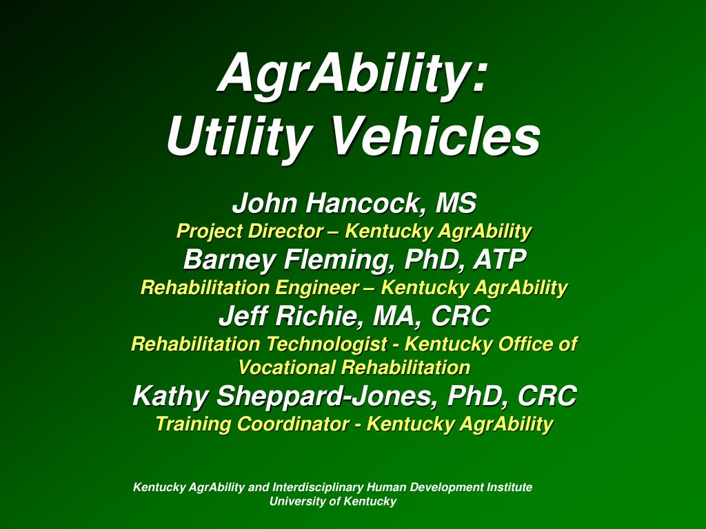 agrability utility vehicles l.