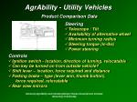agrability utility vehicles product comparison data30