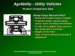 agrability utility vehicles product comparison data33