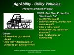 agrability utility vehicles product comparison data35